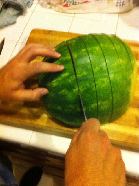 Sectioning the Watermelon